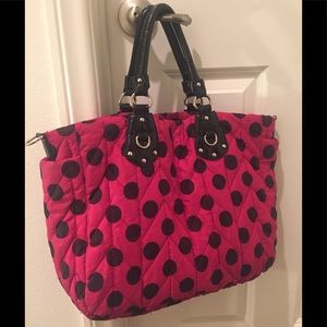 Handbags - Shoulder Bag with Polka Dots